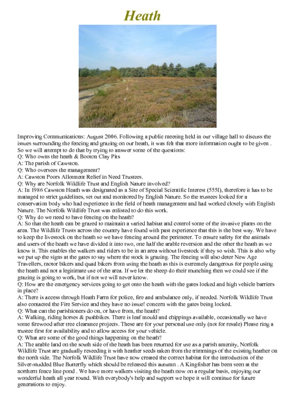 Cawston Heath<br />