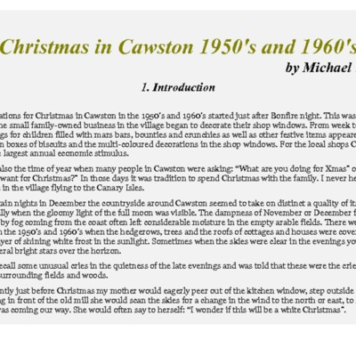 Christmas in Cawston 1950s & 60s by Michael Yaxley.pdf
