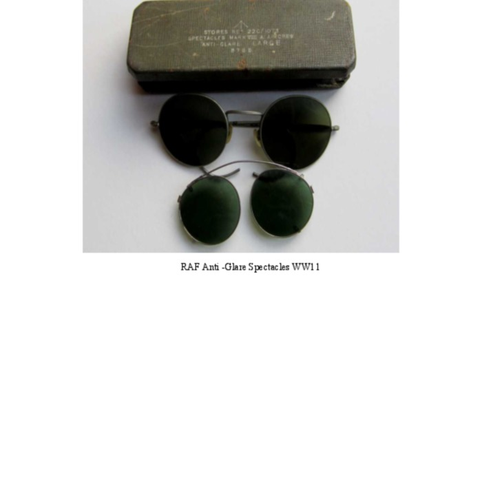 Spectacles for Aircrew WW11