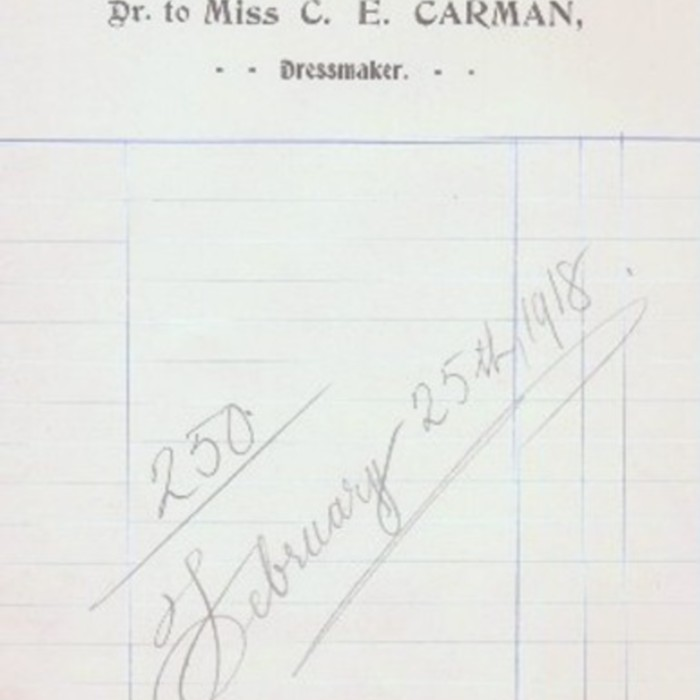 C.E. Carman. Ivy Cottage. Dressmaker.