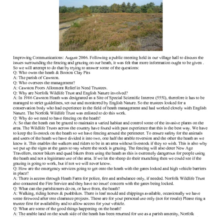 Cawston Heath&lt;br /&gt;<br />