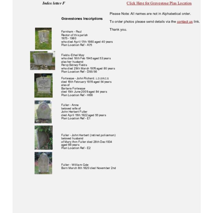 Gravestones at Cemetery Index F.pdf