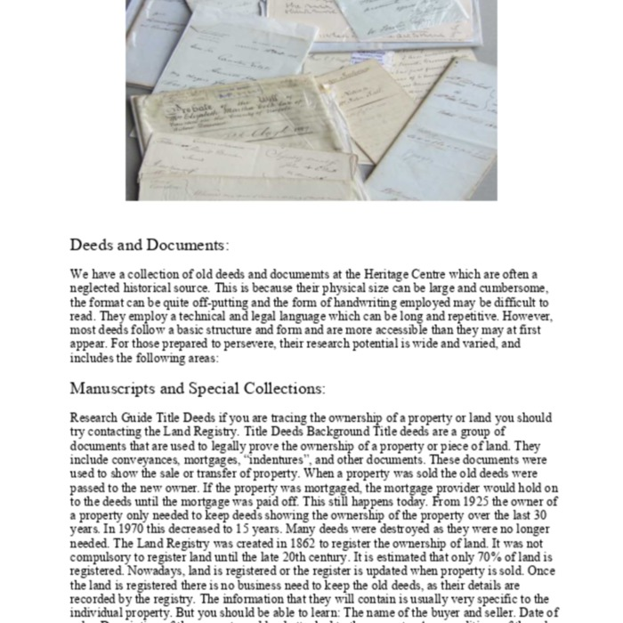 Property Deeds and Documents