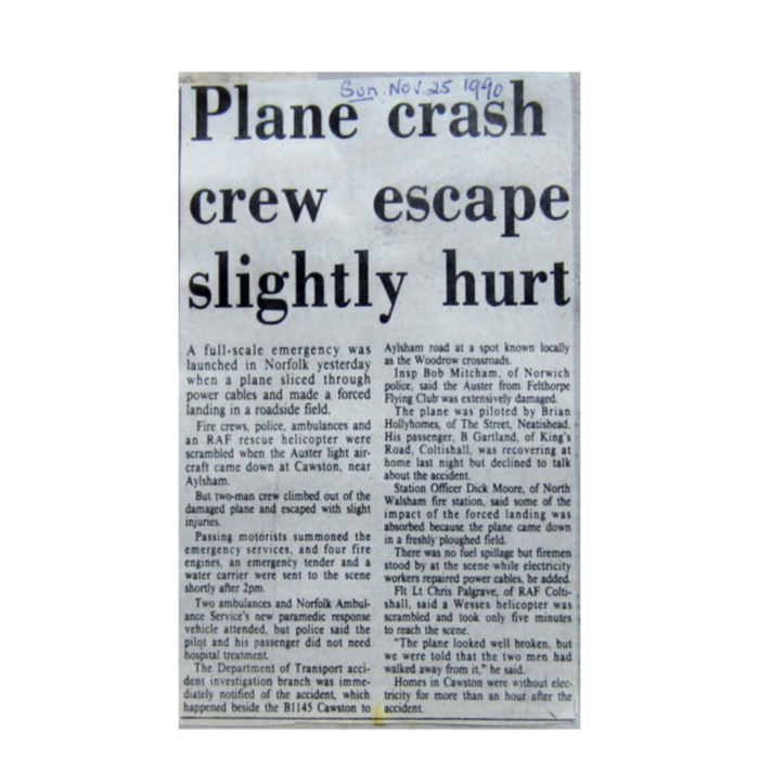 Plane Crash 1990