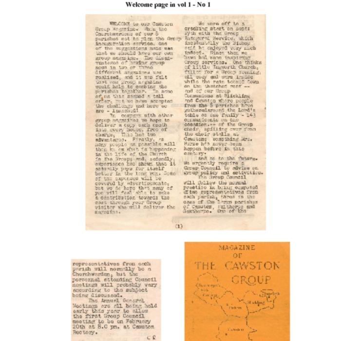 Magazine History for Cawston Parish Group