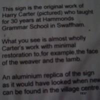 Cawston Sign Notice 1937