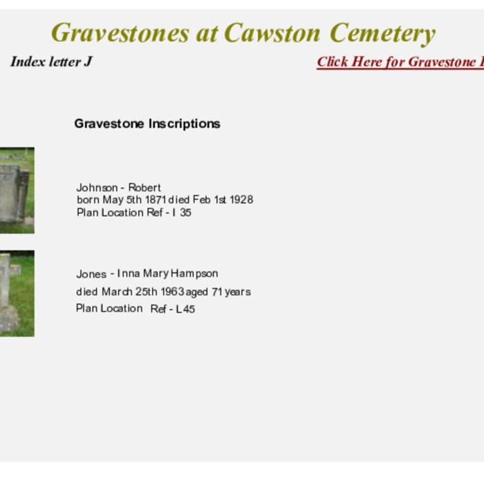 Gravestones at Cemetery Index J.pdf
