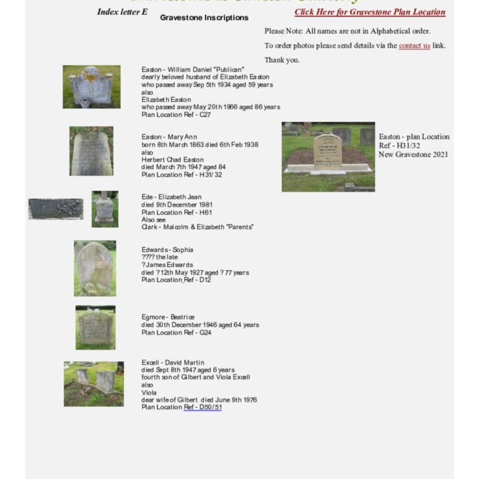 Gravestones at Cemetery Index E.pdf