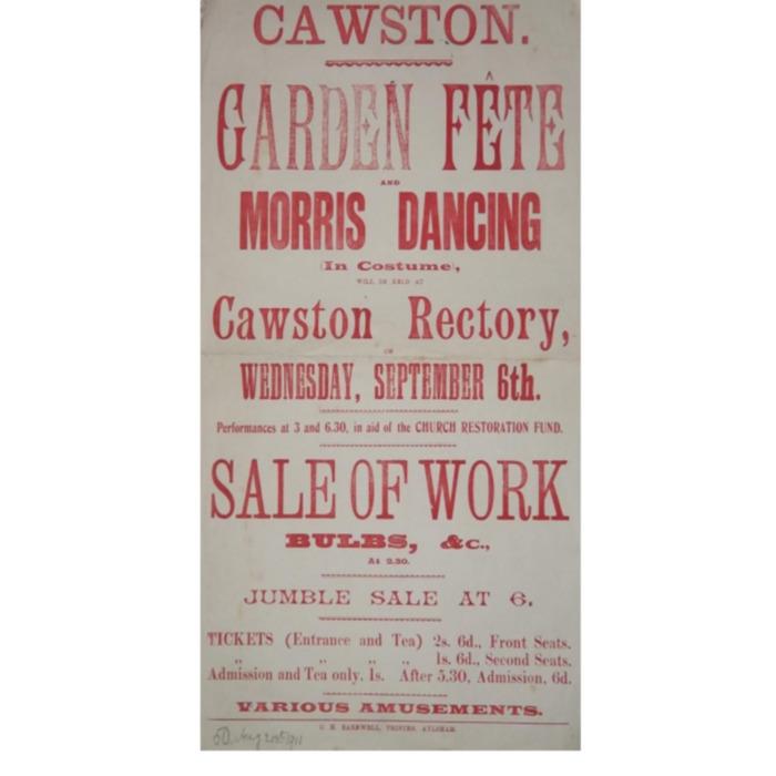 Garden Fete 1911 Notice
