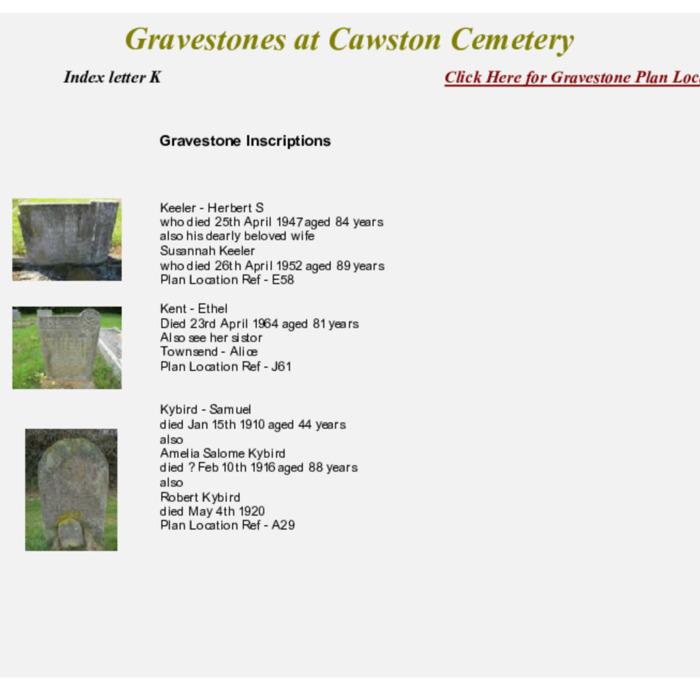 Gravestones at Cemetery Index K.pdf