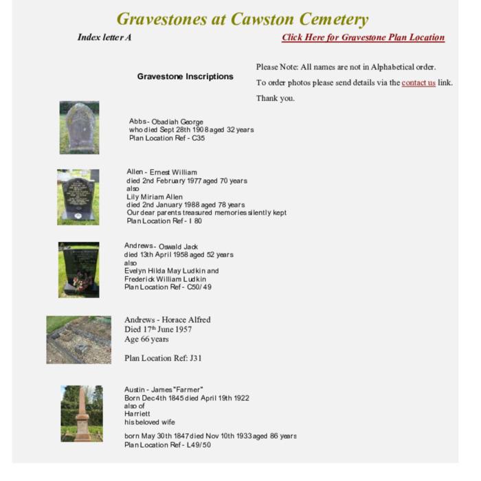 Gravestones at Cemetery Index A.pdf