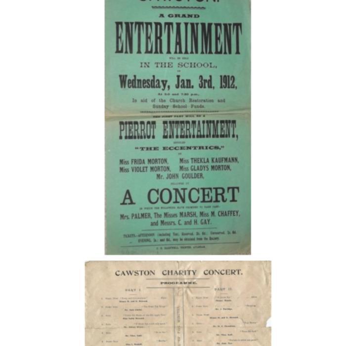 Charity Concert 1912 Notice