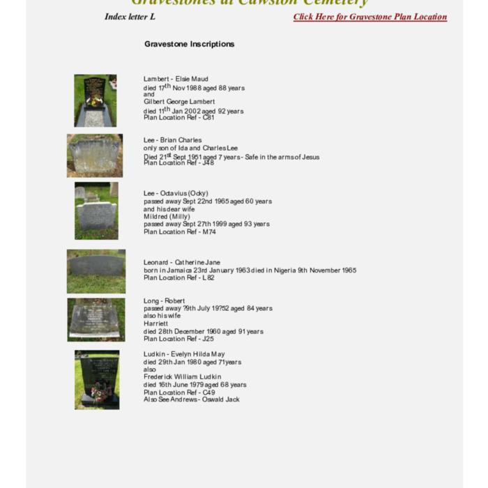 Gravestones at Cemetery Index L.pdf